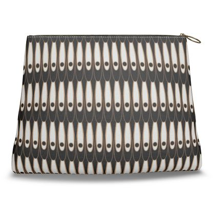 Black and white Art Nouveau - Clutch Bag - Bohemian art deco, geometric shapes, elegant, abstract, graphic, clean, fine, statement gift - design by Tiana Lofd