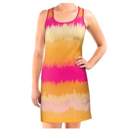 Vest Dress - Emmeline Anne Sunset Stripes