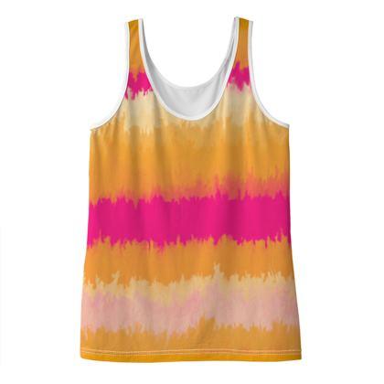 Ladies' Vest Top - Emmeline Anne Sunset Stripes