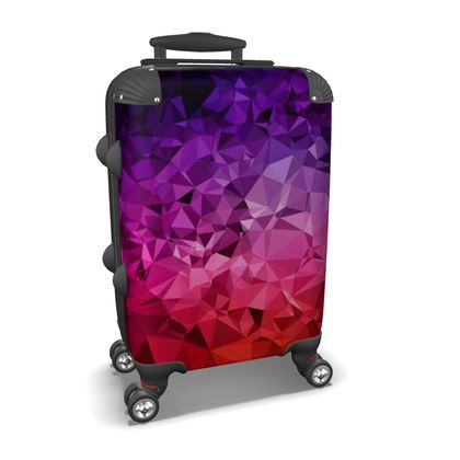 Suitcase in the ULTRA VIOLET GEOMETRIC RAINBOW design