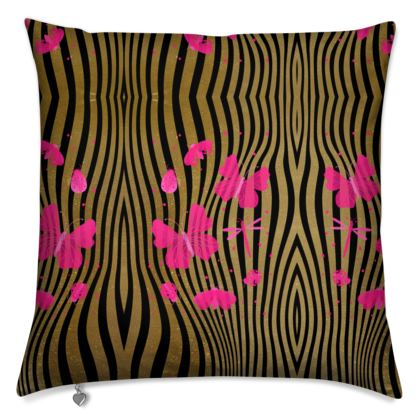 Cushions- Emmeline Anne Stripes and Butterflies