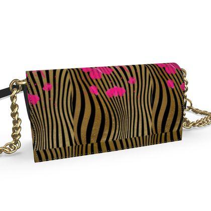 Oana Evening bag - Emmeline Anne Stripes and Butterflies