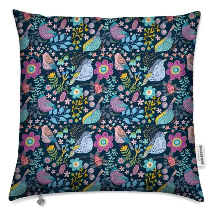 Birdgarden night Cushion