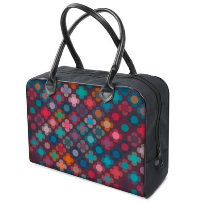 Granny flowers - Holdalls - flowers, vintage, multicolor, brown, floral, geometric, graphic, Boho gift, granny chic, patchwork - design by Tiana Lofd
