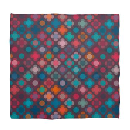 Granny flowers - Bandana - flowers, vintage, multicolor, brown, floral, geometric, graphic, Boho gift, granny chic, patchwork - design by Tiana Lofd