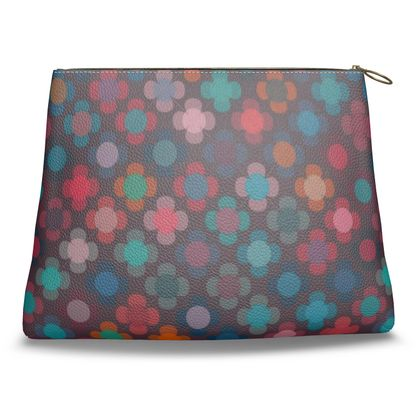 Granny flowers - Clutch Bag - flowers, vintage, multicolor, brown, floral, geometric, graphic, Boho gift, granny chic, patchwork - design by Tiana Lofd