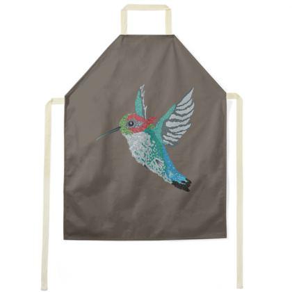 Bee Hummingbird [COFFEE BROWN] Apron