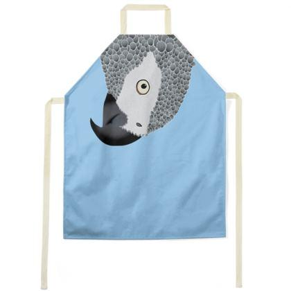 African Grey Parrot [SKY BLUE] Apron