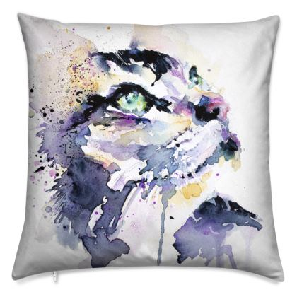 Watercolour Print Cushion