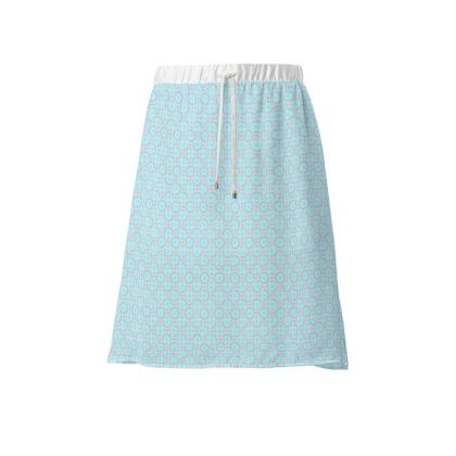 Blue tenderness - Skirt - elegant gift, soft, refined, female, geometric, romantic, airy, fresh, sweet, aerial, guipure - design by Tiana Lofd