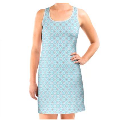 Blue tenderness - Vest Dress - elegant gift, soft, refined, female, geometric, romantic, airy, fresh, sweet, aerial, guipure - design by Tiana Lofd