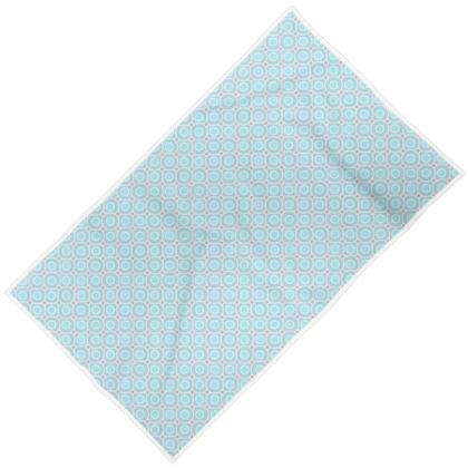 Blue tenderness - Towels - elegant gift, soft, refined, female, geometric, romantic, airy, fresh, sweet, aerial, guipure - design by Tiana Lofd