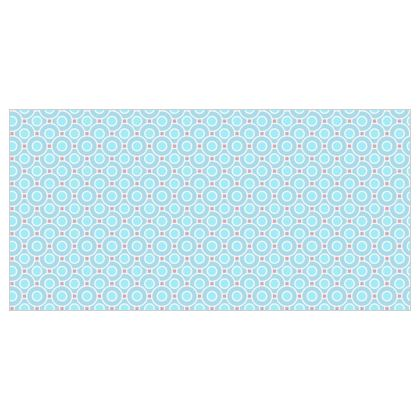 Blue tenderness - Voile Curtains - elegant gift, soft, refined, female, geometric, romantic, airy, fresh, sweet, aerial, guipure - design by Tiana Lofd