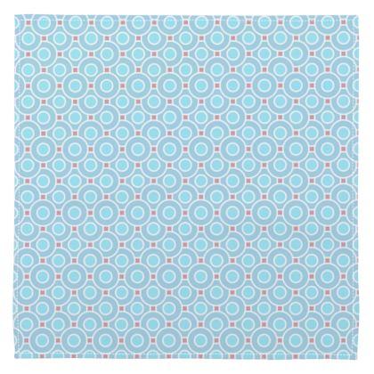 Blue tenderness - Napkins - elegant gift, soft, refined, female, geometric, romantic, airy, fresh, sweet, aerial, guipure - design by Tiana Lofd