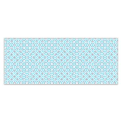 Blue tenderness - Table Runner - elegant gift, soft, refined, female, geometric, romantic, airy, fresh, sweet, aerial, guipure - design by Tiana Lofd