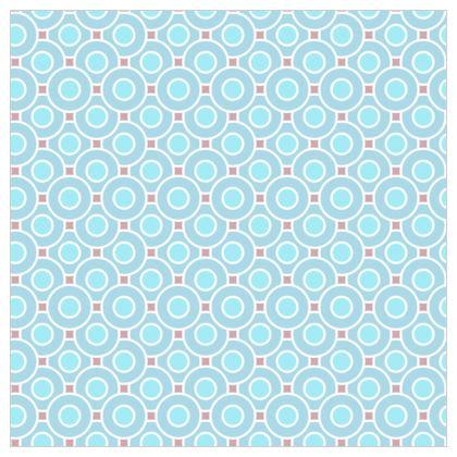 Blue tenderness - Fabric Printing - elegant gift, soft, refined, female, geometric, romantic, airy, fresh, sweet, aerial, guipure - design by Tiana Lofd
