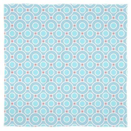 Blue tenderness - Scarf Wrap or Shawl - elegant gift, soft, refined, female, geometric, romantic, airy, fresh, sweet, aerial, guipure - design by Tiana Lofd
