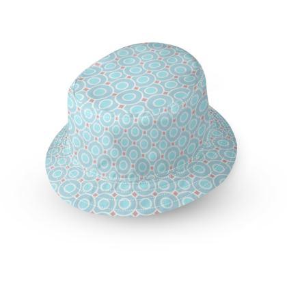 Blue tenderness - Bucket Hat - elegant gift, soft, refined, female, geometric, romantic, airy, fresh, sweet, aerial, guipure - design by Tiana Lofd