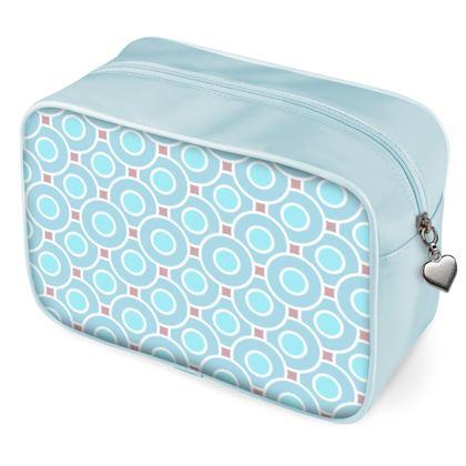 Blue tenderness - Wash Bags - elegant gift, soft, refined, female, geometric, romantic, airy, fresh, sweet, aerial, guipure - design by Tiana Lofd