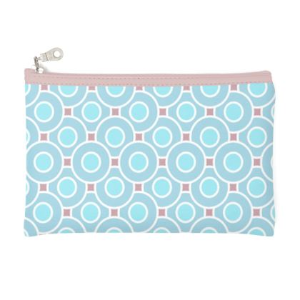 Blue tenderness - Zip Top Pouch - elegant gift, soft, refined, female, geometric, romantic, airy, fresh, sweet, aerial, guipure - design by Tiana Lofd
