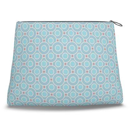 Blue tenderness - Clutch Bag - elegant gift, soft, refined, female, geometric, romantic, airy, fresh, sweet, aerial, guipure - design by Tiana Lofd