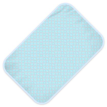 Blue tenderness - Baby Changing Mats - elegant gift, soft, refined, female, geometric, romantic, airy, fresh, sweet, aerial, guipure - design by Tiana Lofd