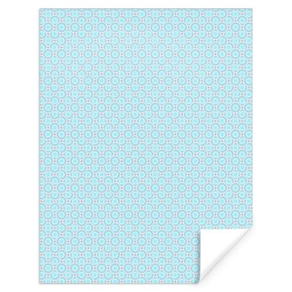 Blue tenderness - Gift Wrap - elegant gift, soft, refined, female, geometric, romantic, airy, fresh, sweet, aerial, guipure - design by Tiana Lofd