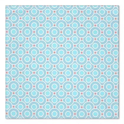 Blue tenderness - Pocket Square - elegant gift, soft, refined, female, geometric, romantic, airy, fresh, sweet, aerial, guipure - design by Tiana Lofd