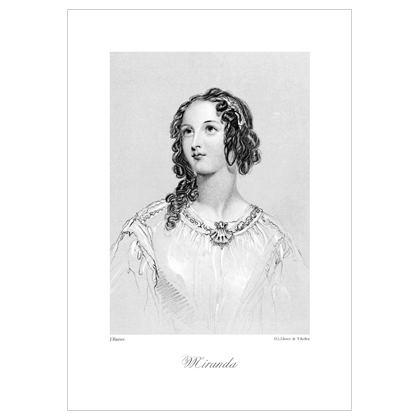 Miranda, Heroine of Shakespeare - A3 Print