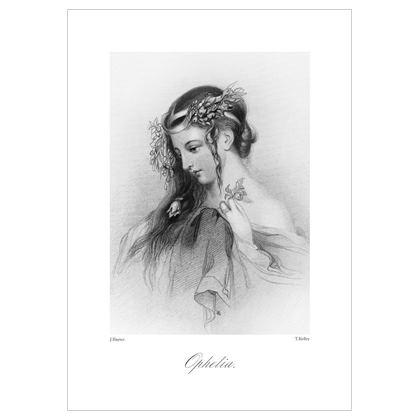 Ophelia, Heroine of Shakespeare - A3 Print