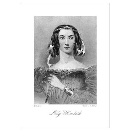 Lady Macbeth, Heroine of Shakespeare - A3 Print
