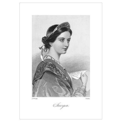 Imogen, Heroine of Shakespeare - A3 Print