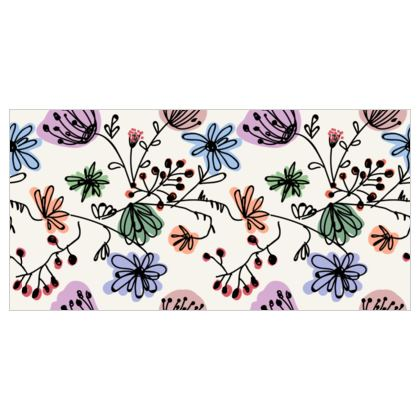 Wild flowers - Tapestry - floral, large scale, hand drawing, colored spots, graphical, artistic, botanical, blossom, blooming plants, summer gift - design by Tiana Lofd
