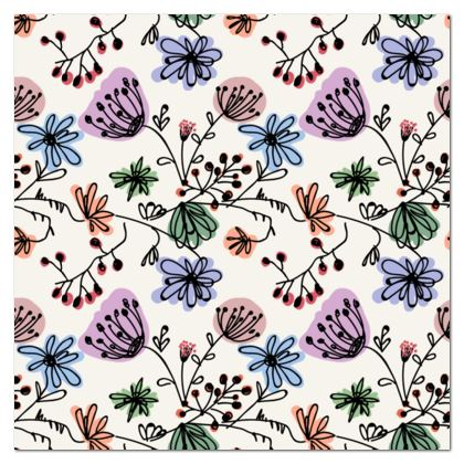 Wild flowers - Tablecloth - floral, large scale, hand drawing, colored spots, graphical, artistic, botanical, blossom, blooming plants, summer gift - design by Tiana Lofd