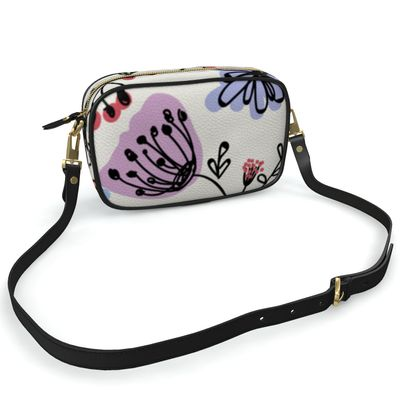 Wild flowers - Camera Bag - floral, large scale, hand drawing, colored spots, graphical, artistic, botanical, blossom, blooming plants, summer gift - design by Tiana Lofd