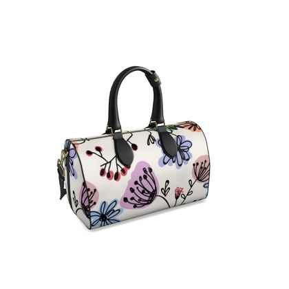 Wild flowers - Duffle bag - floral, large scale, hand drawing, colored spots, graphical, artistic, botanical, blossom, blooming plants, summer gift - design by Tiana Lofd