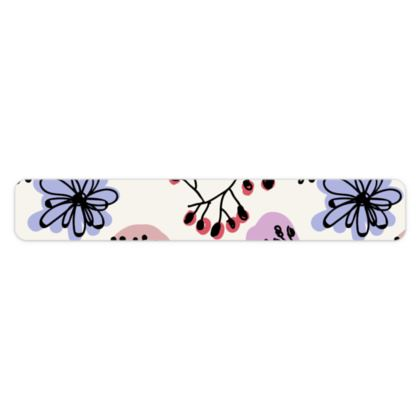Wild flowers - Bracelet - floral, large scale, hand drawing, colored spots, graphical, artistic, botanical, blossom, blooming plants, summer gift - design by Tiana Lofd