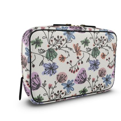 Wild flowers - Mens Large Wash Bag - floral, large scale, hand drawing, colored spots, graphical, artistic, botanical, blossom, blooming plants, summer gift - design by Tiana Lofd