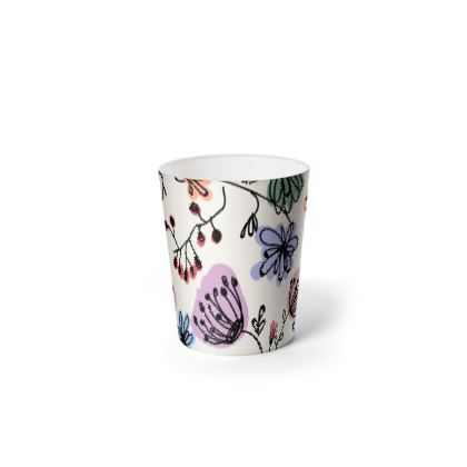 Wild flowers - Waste Paper Bin - floral, large scale, hand drawing, colored spots, graphical, artistic, botanical, blossom, blooming plants, summer gift - design by Tiana Lofd