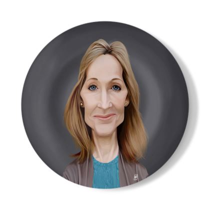 J.K Rowling Celebrity Caricature Decorative Plate