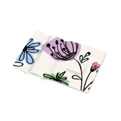 Wild flowers - Printed Pen Tray - floral, large scale, hand drawing, colored spots, graphical, artistic, botanical, blossom, blooming plants, summer gift - design by Tiana Lofd