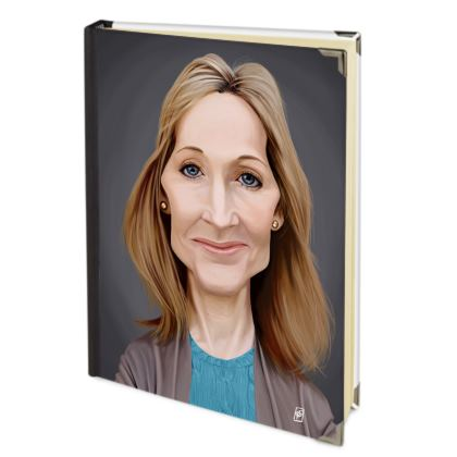 J.K Rowling Celebrity Caricature Journals