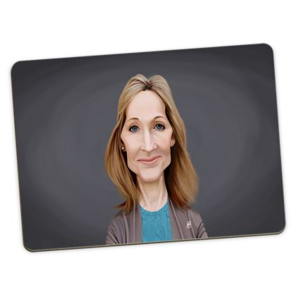 J.K Rowling Celebrity Caricature Large Placemats