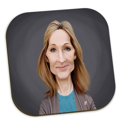 J.K Rowling Celebrity Caricature Coasters