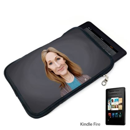 J.K Rowling Celebrity Caricature Kindle Case