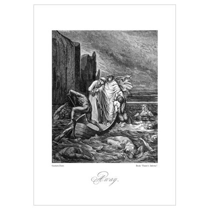 Away, Dante's Inferno Replica - A3 print