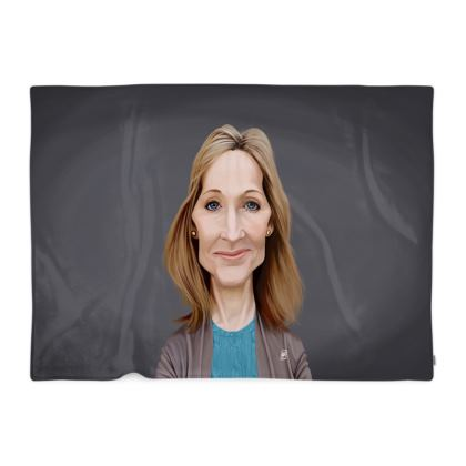 J.K Rowling Celebrity Caricature Blanket