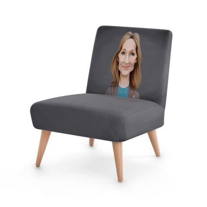 J.K Rowling Celebrity Caricature Occasional Chair