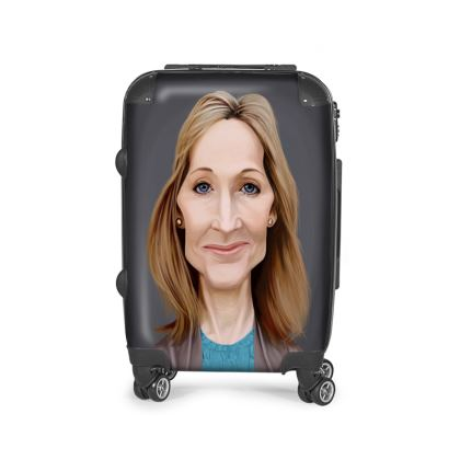 J.K Rowling Celebrity Caricature Suitcase