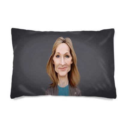 J.K Rowling Celebrity Caricature Pillow Case